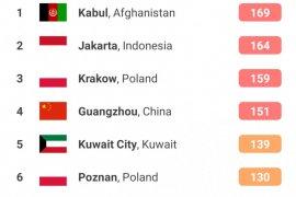 Jakarta duduki posisi ketiga di dunia kualitas udara buruk Kamis Pagi