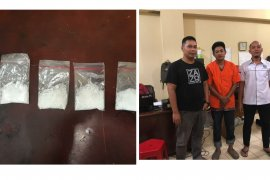 Gembong sabu-sabu Gebang 26,33 gram diringkus Satresnarkoba Polres Langkat
