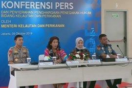 Menteri KKP Susi Pudjiastuti apresiasi keberhasilan menggagalkan penyelundupan benih lobster