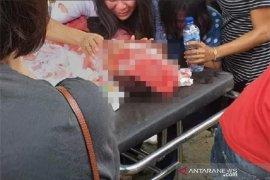 Tertimpa reruntuhan, Seorang siswa SMP tewas akibat gempa beruntun