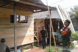 Lima rumah warga mendapat program TMMD Kodim 1010/Rantau