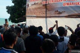 Warga Batu Beriga Bangka Tengah sepakat tolak aktivitas tambang laut