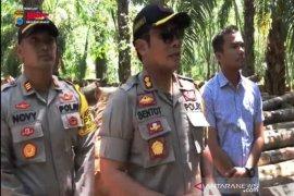 Polisi periksa dua tersangka pembalakan hutan di Kabupaten Tala