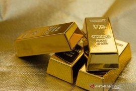 Harga emas melambung tertinggi sepekan, ditopang pelemahan dolar AS