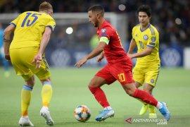 Kualifikasi Piala Eropa - Belgia lanjutkan catatan sempurna dengan menang di Kazakhstan
