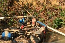 Polres Bangka Barat tertibkan tambang liar Bukit Menumbing