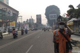 Kabut asap kembali pekat di Kota Jambi