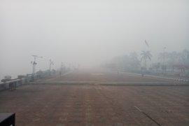 Kabut asap di Palembang paling ekstrim