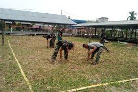 Satgas TMMD Kodim 0314/Inhil Membuat Lapangan Sepak Takrau