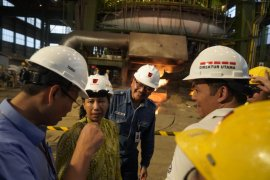 Kunjungan Kerja Menteri BUMN Rini M Soemarno ke Krakatau Steel
