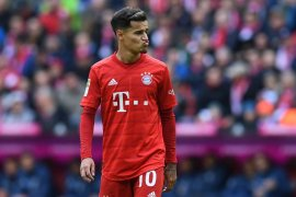Barcelona tutup pintu untuk Philippe Coutinho, saat ini dipinjamkan ke Bayern Muenchen