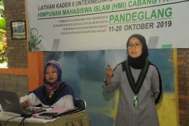 Bupati Lebak berikan materi kepada kader HMI 22 kabupaten se-Indonesia.