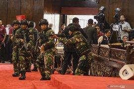 Polri telah menempatkan pola pengamanan pelantikan presiden
