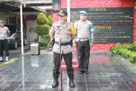 Polri-TNI-Pemkot Binjai apel patroli bersama pengamanan pelantikan Presiden
