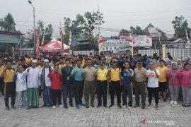 Sejumlah elemen masyarakat HST deklarasi damai dukung pelantikan Presiden