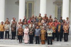 Jokowi dan Jusuf Kalla Silaturahim bersama menteri Kabinet Kerja