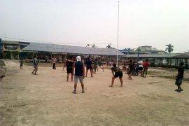 Satgas TMMD Kodim 0314/Inhil Hidupkan Olahraga Bola Voly Di Desa