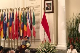 Jusuf Kalla berpidato terakhir sebagai wapres, Sri Mulyani dan Retno Marsudi terharu