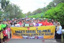 Kapolda-Pangdam Pattimura gowes harkamtibmas bersama masyarakat