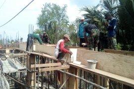 Ini Progres Pembuatan Jembatan Beton TMMD Kodim 0314/Inhil