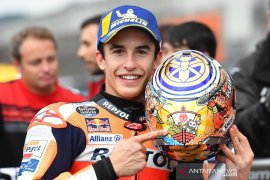 Redam serbuan Yamaha, Marquez raih pole position  perdana GP Jepang