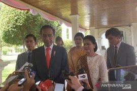 Jokowi ajak keluarga di pelantikan presiden
