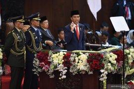 Pidato perdana  Presiden Joko Widodo usai dilantik