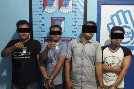 Empat pengguna sabu ditangkap di Aceh Tamiang
