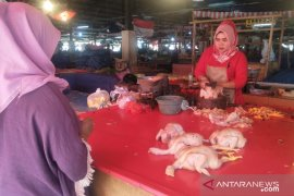 Harga daging ayam di pasar Cianjur kembali naik