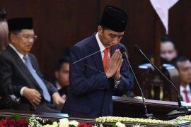 Pidato perdana Presiden Jokowi usai dilantik