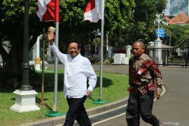 Mahfud MD medatangi ke Istana Presiden