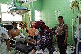 Di Kediri, lima orang alami luka bakar terkena letusan balon udara