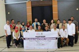 PMI Tangerang berangkatkan17 relawan bantu korban karhutla Riau