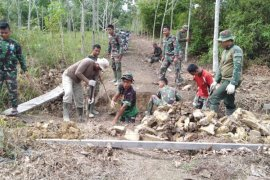 Pembangunan fisik TMMD di Sambas tak terkendala musim hujan