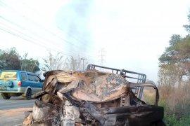 Kecelakaan truk vs pick up di Jalinsum Lampung, enam orang tewas