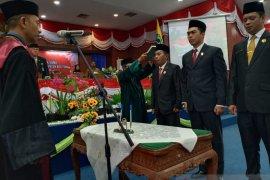 Pimpinan DPRD Kabupaten Belitung resmi dilantik