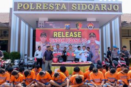 Dalam sebulan, Polresta Sidoarjo tangkap 27 pelaku pencurian