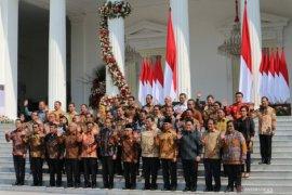 Presiden Joko Widodo pesan kepada menteri Kabinet Indonesia Maju agar tidak korupsi