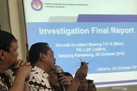 "KNKT ungkap miskalibrasi sensor ""angle of attack"" pesawat Boeing Max 8"