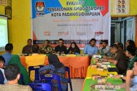 Dinilai ada masalah, KPU gelar Evaluasi pencalonan anggota DPRD Padangsidimpuan