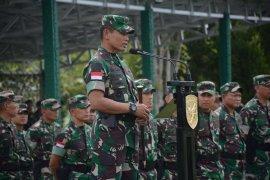 Pangdam Tanjungpura cek kesiapan operasi Pamtas prajurit Yonif R 641/Bru