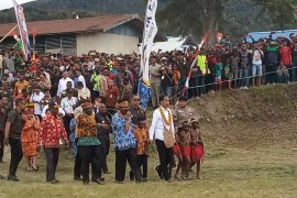 Masyarakat Arfak antusias sambut kehadiran Jokowi