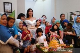 Puteri Indonesia Pariwisata gelar syukuran dengan anak difabel