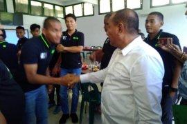 Jelang delapan besar Liga 2, Gubernur Sumut memotivasi pemain PSMS
