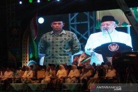 Wapres Ma'ruf Amin andalkan santri untuk hadang radikalisme