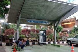Masih gratis, Mengisi baterai kendaraan listrik di SPLU BPPT