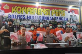 Inilah enam pelaku narkoba yang dibekuk Polres HST pada Operasi Antik Intan 2019