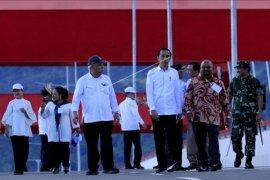 Presiden resmikan jembatan Holtekamp, Papua