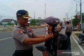 Polres Bangka Selatan tilang 156 pelanggar lalu lintas