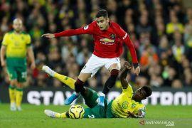 Bertamu ke markas Norwich, Man United amankan poin penuh